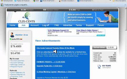 CLIX-CENT GANA DINERO VIENDO PUBLICIDAD 300 a 600 dolares mensuales
