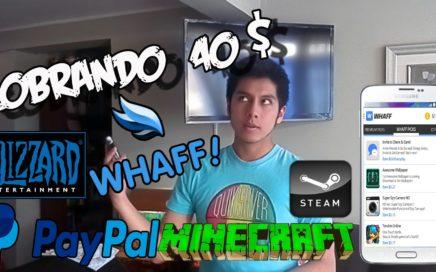 COBRANDO $40 EN WHAFF | Gana dinero con Android 2017 | Paypal, Pokémon Go,Netflix ,starbucks ,Etc