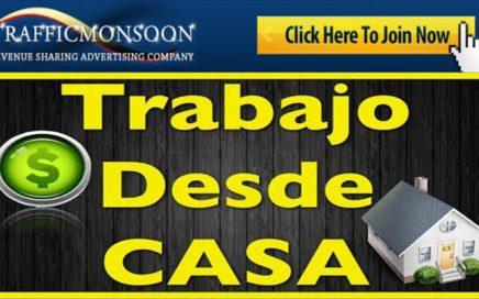 COMO GANAR DINERO CON TRAFFICMONSOON TRABAJO DESDE CASA -NOGOCIO RENTABLE  DETALLADO