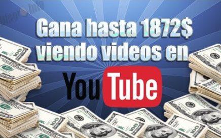 Como ganar dinero en internet viendo videos en YouTube [2017] [Comprobante de pago]