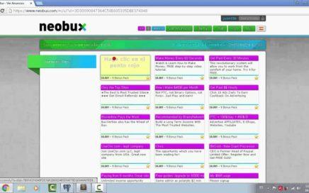 Como ganar dinero extra con Neobux