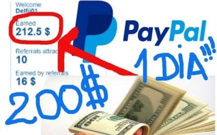 Como ganar dinero Fácil y Rápido hasta 250 $$$  Dolares en un Día y retirar por PAYPAL