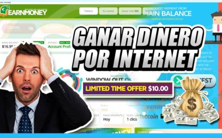 COMO GANAR DINERO POR INTERNET 2017 FIABLE | Earn Money Network $50.00 Dólares gratis