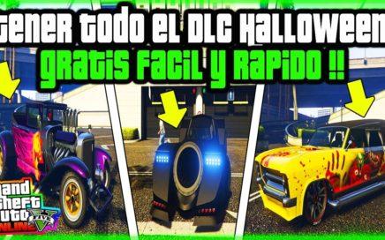 COMO TENER TODO EL DLC DE HALLOWEEN GRATIS   FACIL Y RAPIDO EN GTA V ONLINE  ps4 xbox