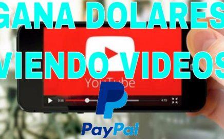 Gana dinero para paypal viendo videos de youtube