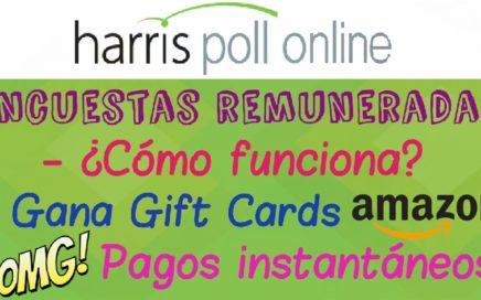 HARRIS POLL ONLINE PRUEBA DE PAGO GIFT CARD DE AMAZON | GANA DINERO CON ENCUESTAS 2017