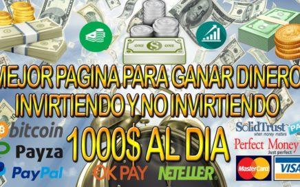 MEJOR PAGINA PARA GANAR DINERO INVIRTIENDO Y NO INVIRTIENDO | COMO VIVIR Y TRABAJAR POR INTERNET