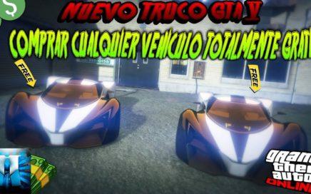 (PARCHADO)NUEVO TRUCO GTA 5 ONLINE CONSEGUIR CUALQUIER VEHICULO TOTALMENTE GRATIS PS4 XBOX ONE
