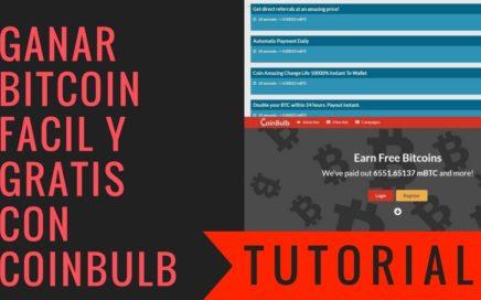 Tutorial CoinBulb | Bitcoin y Referidos Gratis | Ganar Dinero en Casa