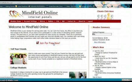 TUTORIAL como funciona  mindfield online .ENCUESTAS =GANAR DINERO SI SE PUEDE SIN PAGAR NADA