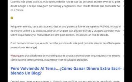 Cómo Ganar Dinero Extra Escribiendo Un Blog