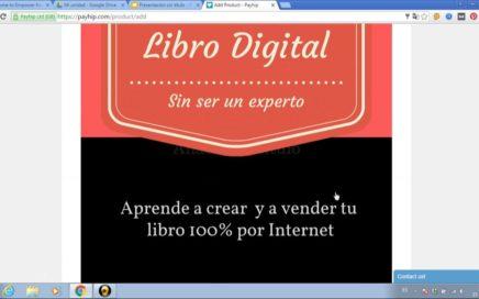 Como vender un libro por internet subirlo en Payhip y ganar dinero directo a paypal
