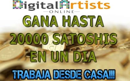 DIGITAL ARTISTS ONLINE NUEVO TRUCO Diciembre 2017 GANA 20,000 SATOSHIS DIARIOS