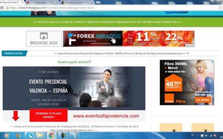 Ganar Dinero Online Seguimiento 12º Semana 235$ en 7 Dias Con Fort Ad Pays