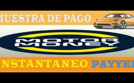 Muestra De Pago MotorMoney Instantaneo a Payeer