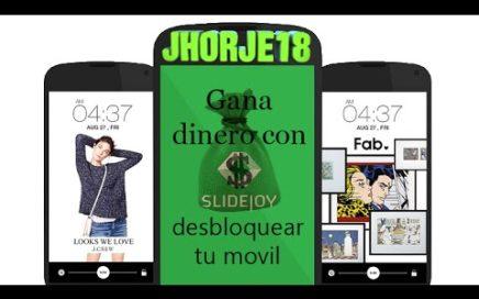 Slidejoy | Gana dinero desbloqueando tu móvil | APPs GANAR DINERO
