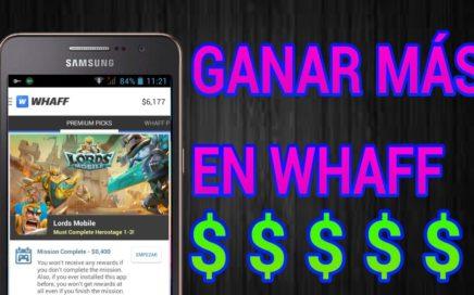 Como Ganar $5 a $10 Diarios con Whaff Rewards/ Hackear Whaff [2017]