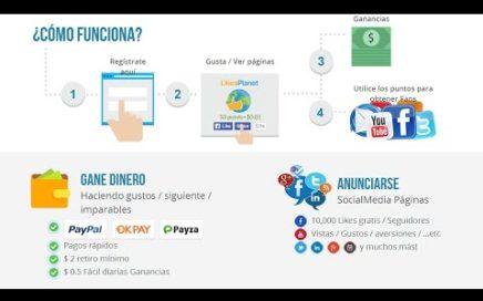 Como Ganar Dinero Con Likesplanet 2$ Dolares Diarios Sencillo Fácil y Rentable 2014