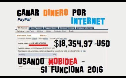 COMO GANAR DINERO CON MOBIDEA 2016 - GANAR DINERO CON MOBIDEA