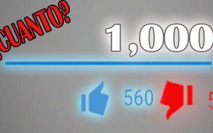 ¿Cuando Dinero te paga Youtube por 1000 Visitas en tus Vídeos?