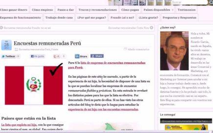 Encuestas Remuneradas Perú - VideoBlog