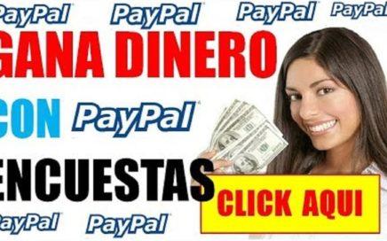 Ganar Dinero en Internet Con Encuestas  5€ Euros Pago a PayPal