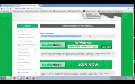 Goddyadz Nueva PTC gana dinero online 100% fiable