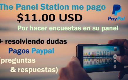 The Panel Station encuestas funciona pago de $11.00 USD (preguntas & respuestas Paypal)