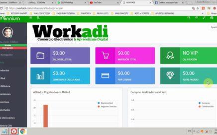 Cómo ganar dinero con Workadi, Con inversión y sin inversión - 2018