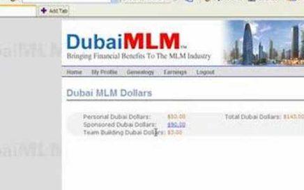 Prueba de como se puede ganar dinero con dubai MLM