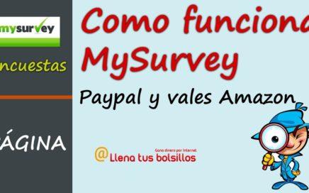 Como funciona MySurvey | Portal de encuestas para ganar dinero gratis