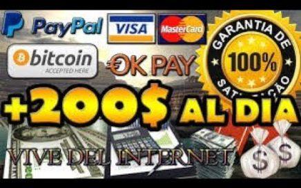 Como Gana  Dinero Diario Facil Para Mi Paypal 2018