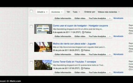 Como ganar dinero en internet con youtube subiendo videos