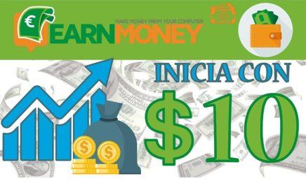 Como Ganar Dinero Por Internet (GANA 10 DOLARES INICIANDO) - EARNMONEY