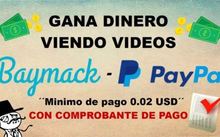 Como Ganar Dinero Viendo Vídeos-Comprobante de pago Paypal 2018