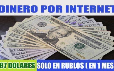 DINERO POR INTERNET en 1 MES 87$ DOLARES SOLO EN RUBLOS