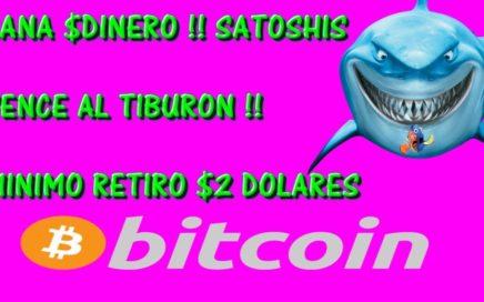 GANA $DINERO POR INTERNET JUGANDO !! MINIMO $2 DOLARES EN SATOSHIS !! [2018]