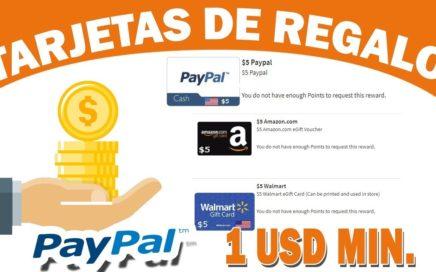 GANAR TARJETAS PAYPAL DESDE 1 USD POR TAREAS