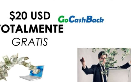 GoCashBack TE REGALA $5USD GRATIS!