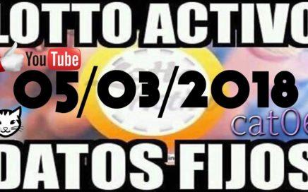 LOTTO ACTIVO DATOS FIJOS PARA GANAR  05/03/2018 cat06