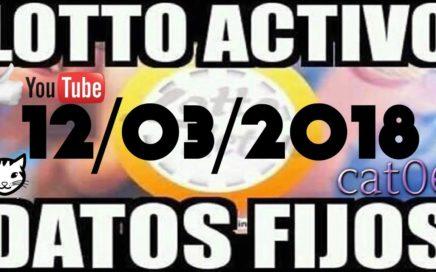 LOTTO ACTIVO DATOS FIJOS PARA GANAR 12/03/2018 cat06