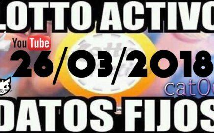LOTTO ACTIVO DATOS FIJOS PARA GANAR  26/03/2018 cat06