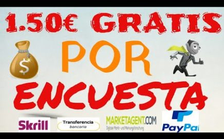 Marketagent te Regala 1.50€ Gratis Por Paypal (Gana Dinero Con Encuestas Remuneradas)