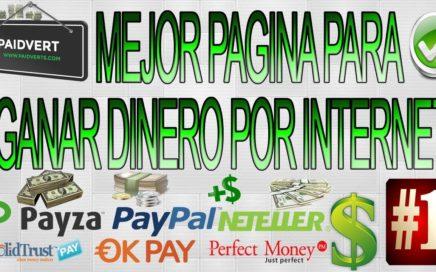 Mejor página para ganar dinero parar Paypal hasta 50 us brutalmente/2018 + comprobante de pago 2018