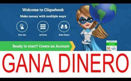CliqueBook, PTC para Ganar Dinero desde casa