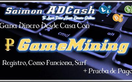 Gana Dinero Online Desde Casa con GameMining. Registro + Como Funciona + Prueba de Pago a Payeer **