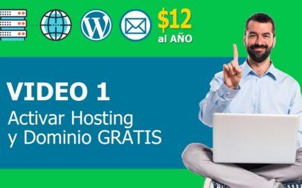 hosting y dominio gratis en godaddy