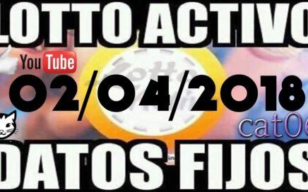 LOTTO ACTIVO DATOS FIJOS PARA GANAR  02/04/2018 cat06