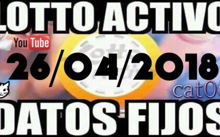 LOTTO ACTIVO DATOS FIJOS PARA GANAR  26/04/2018 cat06