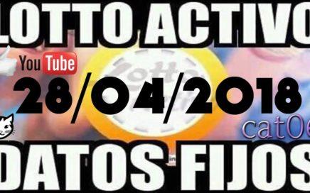LOTTO ACTIVO DATOS FIJOS PARA GANAR  28/04/2018 cat06